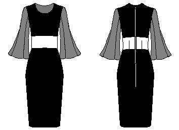 svart klänning begravning