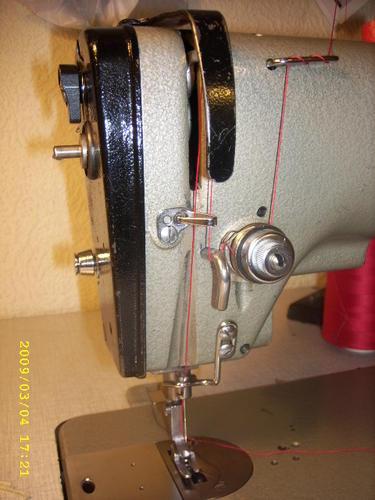 hur trär man en gammal singer symaskin